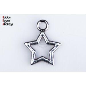 Antikolt ezüst színű csillag alakú fityegő