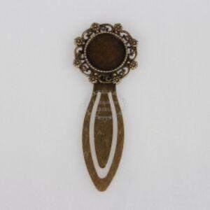 Antikolt bronz díszes könyvjelző (18mm)