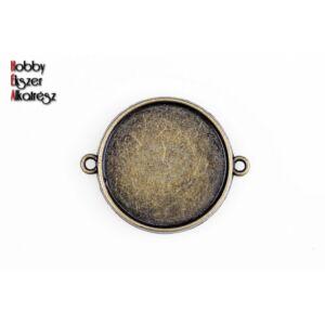 Antikolt bronz dupla oldalú kapcsolóelem (12mm)