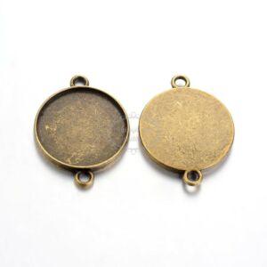 Antikolt bronz színű kapcsolóelem (20mm)