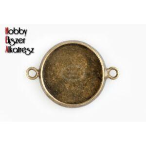 Antikolt bronz lemezes kapcsolóelem (14mm)