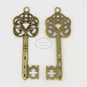 Antikolt bronz színű nagy kulcs medál