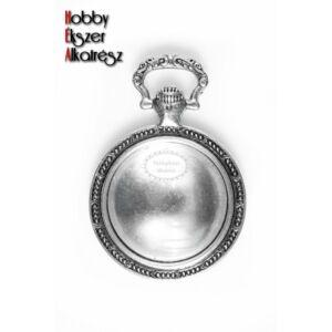 Antikolt ezüst színű órás medál (20mm) hozzátartozó üveglencsével