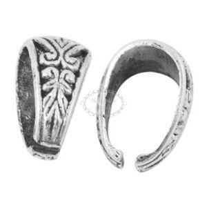 Antikolt ezüst színű díszes medáltartó