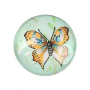 Narancssárga pillangós üveglencse (20mm)