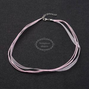 Rózsaszín organza nyaklánc