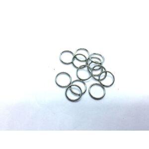 10db antikolt ezüst színű szimpla vastag szerelőkarika (10mm)