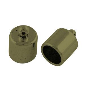 Antikolt bronz színű zsinórvég (15x10mm)