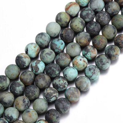 Matt African Turquoise ásványgyöngy (8mm)/10db