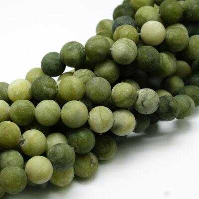 Matt TaiWan Jade ásványgyöngy (6mm)/10db