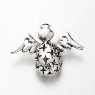 Antikolt ezüst színű áttört angyal medál