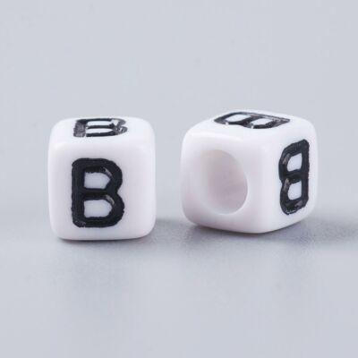 Műanyag b betűgyöngy