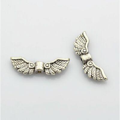 Antikolt ezüst színű angyalszárny köztes