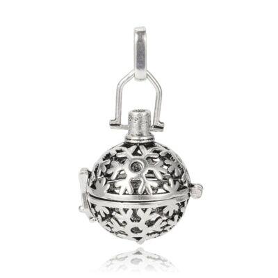 Antikolt ezüst színű angyalhívó (5)