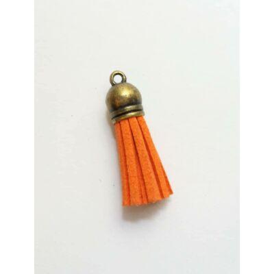 Narancs színű bőrbojt (38mm)