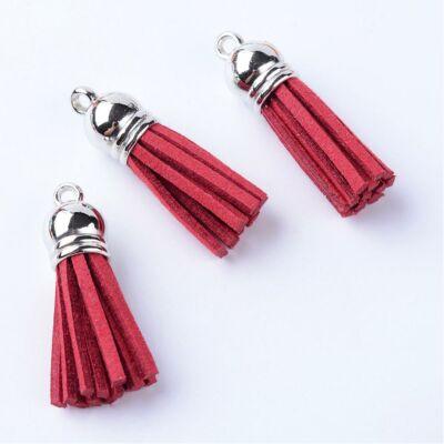 Piros színű bőrbojt (35mm)