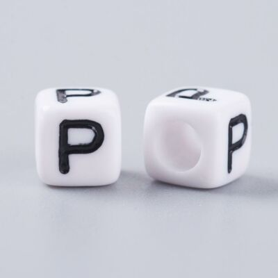 Műanyag p betűgyöngy
