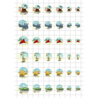 Állatok-9 Üveglencsés ékszerpapír több méret A5