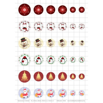 Karácsony-2 Üveglencsés ékszerpapír több méret A5