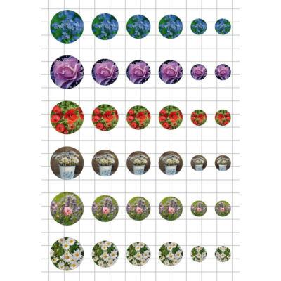 Virág-6 Üveglencsés ékszerpapír több méret A5