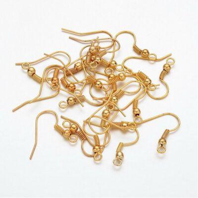 10 pár arany színű akasztós fülbevalóalap