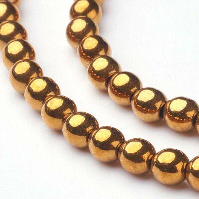 10db Arany színű golyó alakú köztes (3mm)