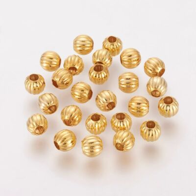 10db Arany színű golyó alakú köztes (6mm)