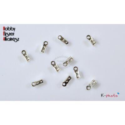 10 db ezüst színű bőrvégzáró (kicsi)
