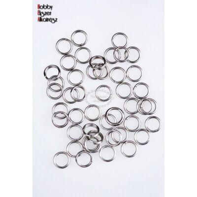 50db Antikolt ezüst színű dupla szerelőkarika (5mm)