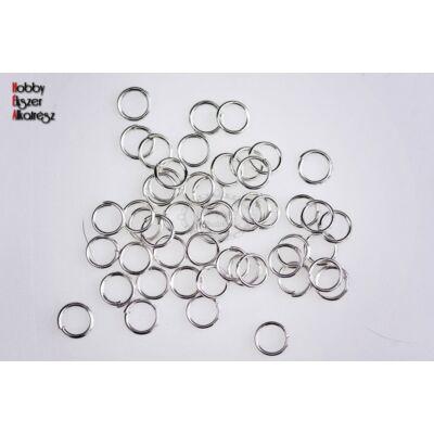 10db Ezüst színű szimpla vastag szerelőkarika (10mm)