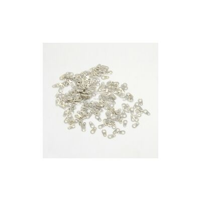 10db antikolt ezüst színű lánclezáró fül