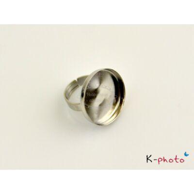 Antikolt ezüst színű sima gyűrűalap (25mm)