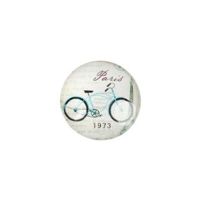Bicikli mintás üveglencse (20mm)
