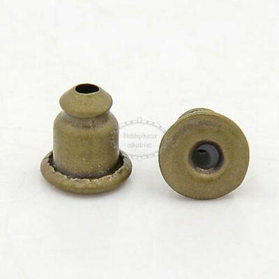 10db Antikolt bronz színű fülbevalóvég