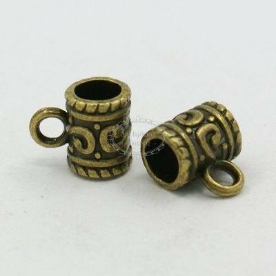Antikolt bronz színű díszített medáltartó