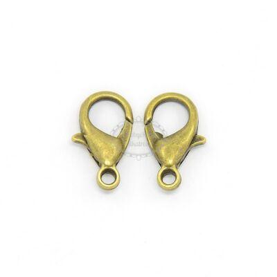 10db Antikolt bronz színű delfinkapocs (14x8mm)
