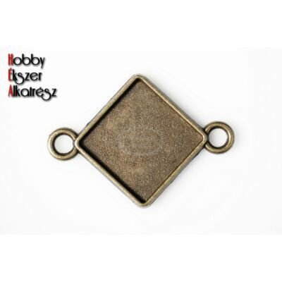 Antikolt bronz színű kapcsolóelem (15x15mm)