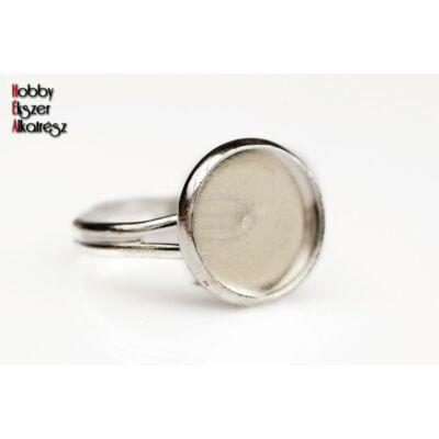 Ezüst színű gyűrűalap (12mm)
