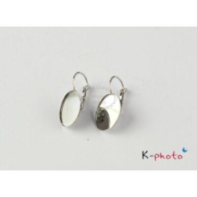 Ezüst színű franciakapcsos fülbevalóalap (18x25mm)
