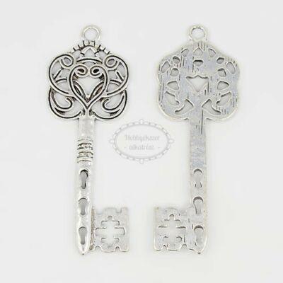 Antikolt ezüst színű nagy kulcs medál