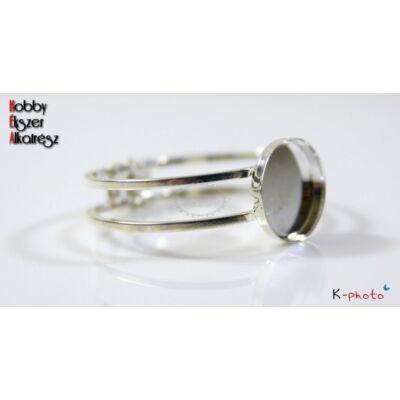 Ezüst színű magasabb peremű karperecalap (25mm)