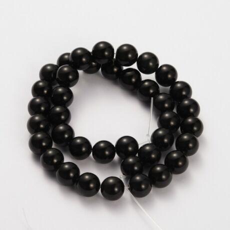 Black obsidian ásványgyöngy (4mm)/10db