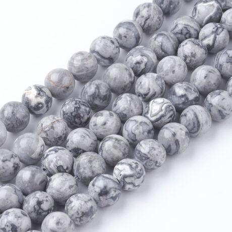 Fancy jáspis ásványgyöngy (6mm)/10db