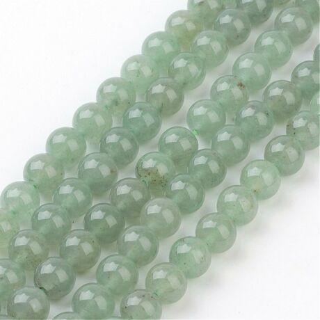 Zöld Aventurin ásványgyöngy (8mm)/10db
