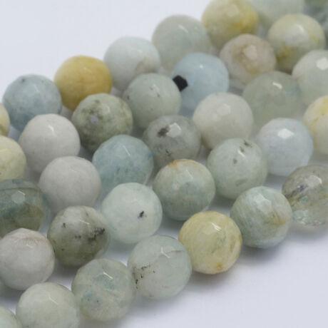 Akvamarin ásványgyöngy (8mm)/10db