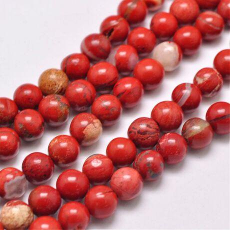 Red jasper ásványgyöngy (4mm)/10db