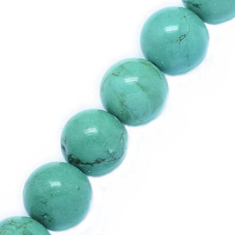Zöld türkiz ásványgyöngy (6mm)/10db