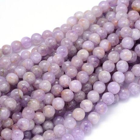 Lavender Jade ásványgyöngy (6mm)/10db