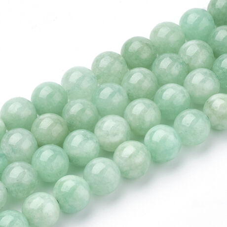 Mianmar Jade/Burmai Jade ásványgyöngy (6mm)/10db