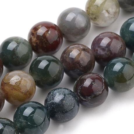 Indian Agate  ásványgyöngy (8mm)/10db